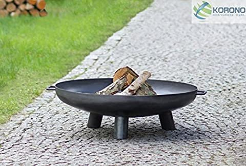 Korono Brazier Fire Basket 100cm with Handle–Practicality and Great Design   Stylish Beleutung–Fire Heat Source