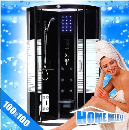 Black Pearl 100 x 100 ohne Dampf - Duschtempel, Duschkabine, Dusche - deutschlandweit kostenloser Versand