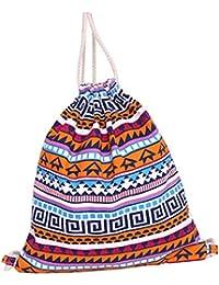 EOZY Drawstring Bag Sac à Dos Imprimé Toile Outdoor Sac Femme Loisirs Scolaire Sport Fitness