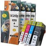 4 Cartuchos de tinta XL compatibles con HP DeskJet 3520 e-All-in-One / x1 Negro 364BK XL / x1 Azul 364C XL / x1 Rojo 364M XL / x1 Amarillo 364Y XL