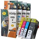 ESMOnline 4 komp. XL Druckerpatronen Ersatz für HP Deskjet 3070 3070A 3520 / HP Officet 4620 4610 4622 1 x Schwarz 1 x Blau 1 x Rot 1 x Gelb
