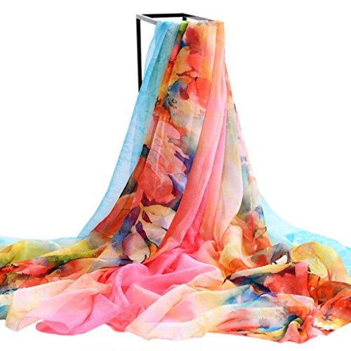 YQQ-Schal Frau Chiffon Elegant Alle Jahreszeiten Rechteckig Schal 70 * 165 cm (Farbe : S) - 70 S Schal