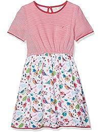 Yumi Striped Tropical Bird Print, Vestido para Niños
