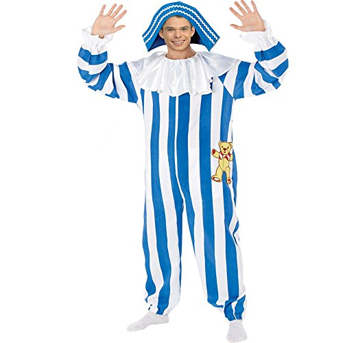 Adult Andy Pandy Kostüm. Jumpsuit und Hut. Medium Erwachsenen 96-101 cm (Andy Pandy Kostüm)