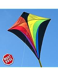 Einleiner-Drachen - Eddy XL MUSTHAVE - für Kinder ab 6 Jahren - Abmessung: 90x100cm - inkl. 100m Drachenschnur und Streifenschwänze