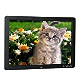 Andoer 15-inch Wide Screen HD LED Digital Picture Frame Digital Album High Resolution 1280*800 Electronic Photo Frame with Remote Control Black