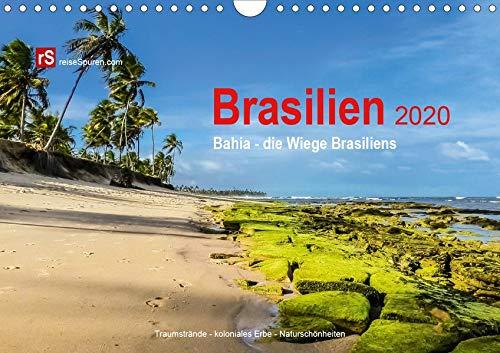 Brasilien 2020 Bahia - die Wiege Brasiliens (Wandkalender 2020 DIN A4 quer): Bahia, die Wiege Brasilien, verbindet in einzigartiger Weise Kultur, ... (Monatskalender, 14 Seiten ) (CALVENDO Orte)