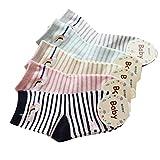 Capretti delle ragazze dei neonati dei calzini KANGDAI 5 paia Soft Air sfiato Cotone senza giunte sottile calzini ricchi colori Liner stile per Età 0 a 10 bambini (0-2, 1501)