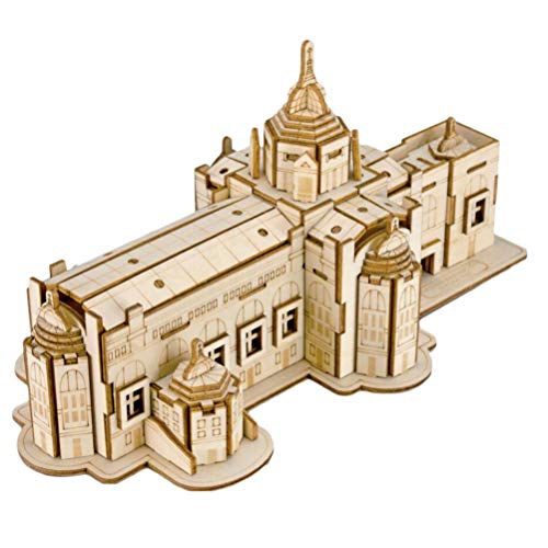 Healifty 3D Holzhaus Puzzle Thai-Stil Architektur Puzzle pädagogisches Puzzle Spielzeug DIY-Puzzle-Modell