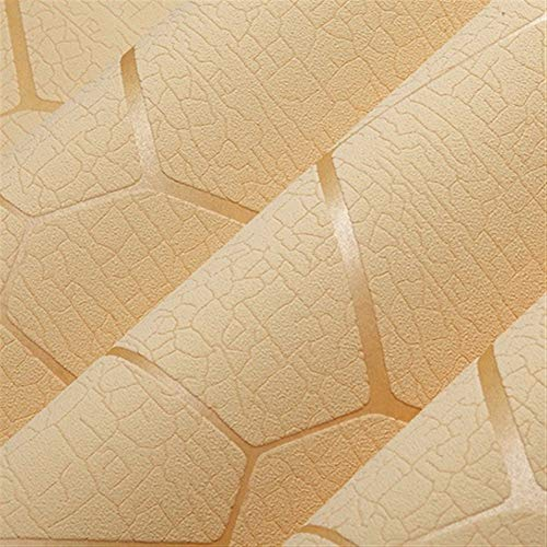 Beige-moderne-tapete (Luxus Moderne Geometrische Muster Verdicken 3D Stereoscopic Vlies Tapete Schlafzimmer Wohnzimmer TV Hintergrund Tapete (Color : Beige))