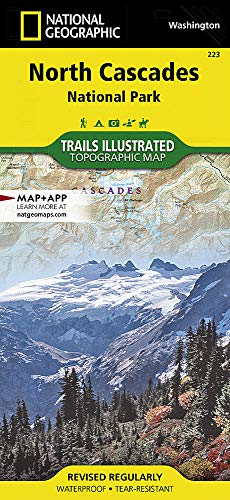 North Cascades National Park: National Geographic Trails Illustrated National Parks (National Geographic Trails Illustrated Map, Band 223) (Wa Map State)