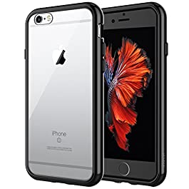 JETech Case for Apple iPhone 6 and iPhone 6s, Shock-Absorption Bumper Cover, Anti-Scratch Clear Back