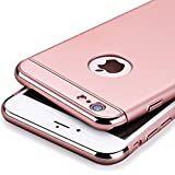 Aeetz 3-In-1 Shockproof* Dual Layer Thin Back Case For iPhone 6 6S (Rose Gold With Rose Gold )
