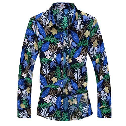 Aoogo Herren Hemden Business freizeithemd männer oberhemden Moderne Casual anzughemden Freizeit Mens-Herbst-Art- und Weisehemden beiläufige Lange Hülsen-Strand-Oberseiten lösen beiläufige Bluse