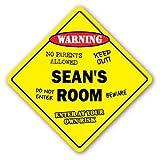 Funny Deko Schilder Sean 's Türschild Kids Schlafzimmer Decor Tür Kinder Namen Junge Mädchen Geschenk Metall Aluminium Zeichen für Garagen, Wohnzimmer
