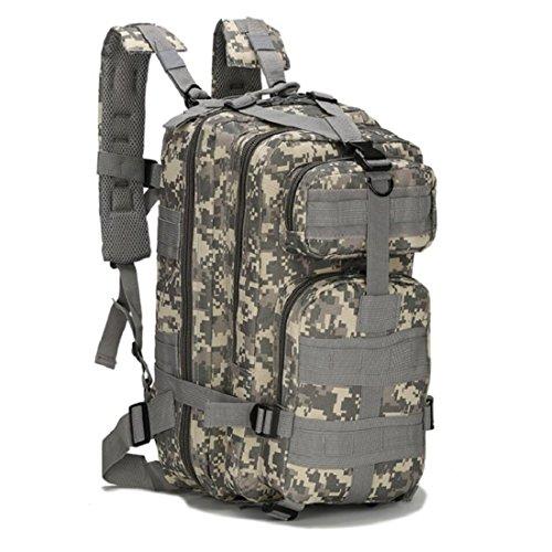 LF&F Backpack Camping outdoor Zaini Borse Tattiche militari sport all'aria aperta 21L Oxford impermeabile traspirante camuffamento Tattiche 3p doppio zaino spalle G 21L C