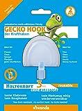 4x Viwanda Gecko Hook, Haken für Glas und glatte Oberflächen, KEIN KLEBER, KEIN SAUGHAKEN