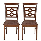 HomeTown Eva Dining Chair, Set of 2 (Wenge)