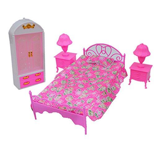 �r Pretend Play Möbel Set Spielzeug für Barbie Puppen als Weihnachtsgeschenke für Kinder (Kinder Schlafzimmer Möbel-sets)