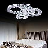 Chandelier LED Kristall Lampe Atmosphäre Wohnzimmer Lampe Kreative Deckenlampe Schlafzimmer Lampe Deluxe Runde Hall Lampe Raum Lampe [Energieklasse A +]