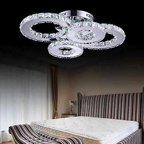 Installieren Bad Eitelkeit Licht (LED Kristall Lampe Atmosphäre Wohnzimmer Lampe Kreative Deckenlampe Schlafzimmer Lampe Deluxe Runde Hall Lampe Raum Lampe [Energieklasse A +])
