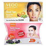 #4: VLCC Anti Tan Facial Kit, 60g with Free Party Glow Facial Kit, 60g