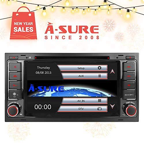 "A-SURE 7\"" DVD GPS Autoradio 3G Internet WLAN VMCD DAB+ RDS Sat Navi FM AM Bluetooth USB Navigation VMCD für VW Touareg T5 Multivan ZTW8Q 2-Jahre-Garantie"