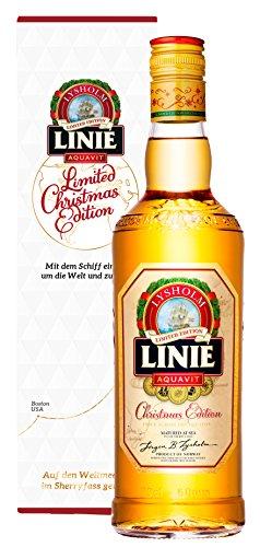 Linie Aquavit Christmas Edition Norwegen Weihnachten in Geschenkverpackung - Einzigartig neues Rezept für feierliche Momente