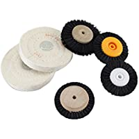 Earlywish Wood Cloth Hub Cepillo de rueda giratoria para joyería Limpieza dental Pulido pulido 6pcs