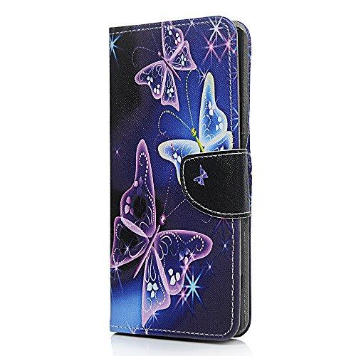 XA2Ultra Case, PU Leder Wallet Case mit Ständer Karte Slots Magnetverschluss Flip Notebook Soft TPU Stoßfest vollen Schutz Handy Cover Case für Sony Xperia XA2Ultra (Schädel-geld-clip)