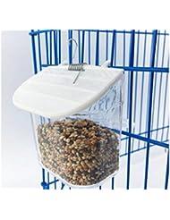 PanpA Sostenible Comedero para Pájaros Vaso de plástico Redondo Vaso de Paloma para Loros Alimentador de
