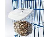 PanpA Sostenibile Mangiatoia per uccelli Ciotola in plastica rotonda Porta pappagallo Pappagallo Gabbia cibo Alimentatore d'acqua-Colore trasparente