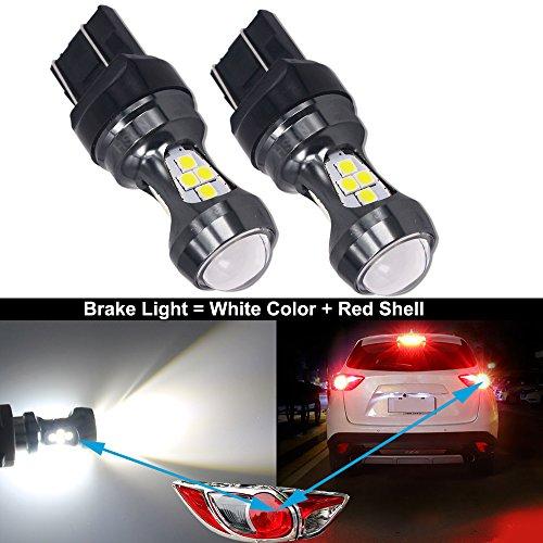 HSUN Lot de 2 de 16 LED SMD3030 3200 extrêmement lumineuses avec bus de données CAN pour feux de frein, feux arrière, feux de recul, feux de recul, feux de recul, DRL, etc. Blanc, 6000 K