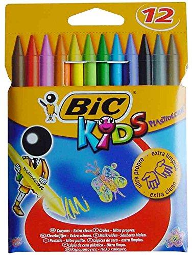 BIC–Lote de 5paquetes de 12tizas de colores Kids Plastidecor 12colores