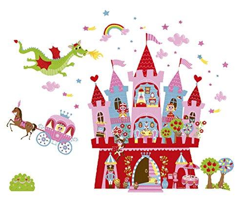 Preisvergleich Produktbild Janod Spielzeug - Magnet Prinzessinnen Schloß, 30 teilig, 140 x 100 cm, Mehrfarbig