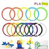 Tera® 1,75mm 10M 30G vielfärbige PLA Print Filament Kunststoffdraht Druckmaterial für 3D-Drucker Pen Stift