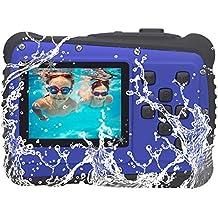 Vmotal GDC5261 Fotocamera digitale impermeabile con zoom digitale 4x/8MP/2 Schermo LCD TFT/Camera impermeabile per bambini (Blu)