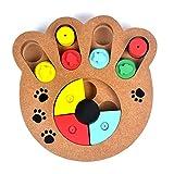 CricTeQleap Haustier Spielzeug, Essen behandelt Holz p?dagogische Knochen Pfote Puzzle interaktive Spielzeug Welpen Hund Katze Haustier - Pfote *