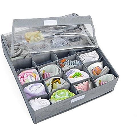 sixmad (TM) caliente 3piezas sujetador de ropa interior calcetines lazos divisor armario contenedor caja de almacenamiento organizador de