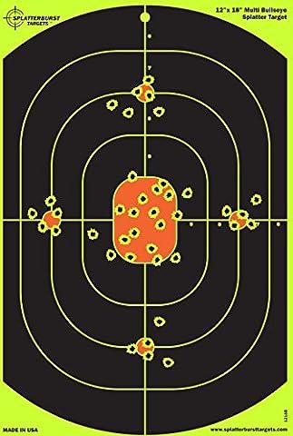 Lot de 25–30,5x 45,7cm Bullseye Cible splatterburst–Voir instantanément votre Shots Burst vives jaune fluorescentes à (Bb Gun Target)