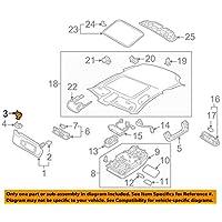 Original Audi A1 A3 A4 A5 Q3 Q5 TT Halter für Sonnenblende 8W0857562A 4PK