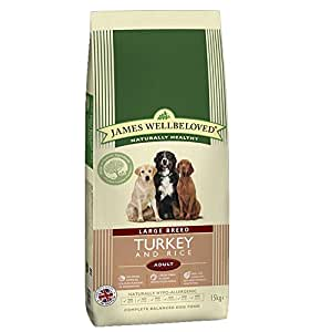 James Wellbeloved Dry Dog Food Adult Large Breed Complete Turkey and Rice 15 Kg