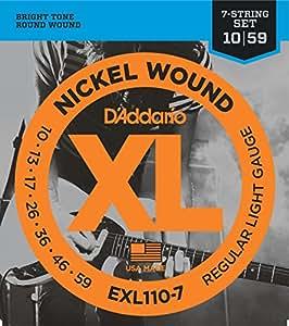 D'Addario EXL110-7 XL Nickel Wound Regular Light  (.010-.059) 7-String Electric Guitar Strings