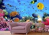 Vliestapete Korallenriff mit Fischen VT480 Größe:400x280cm, Fototapete, Vlies Tapete, High Quality, PREMIUM Bildtapete, Unterwasser Riff Tauchen