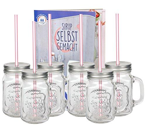 6er-set-glasbecher-mit-henkel-deckel-und-trinkhalm-inkl-rezeptheft-silber-045-liter-trinkbecher-trin