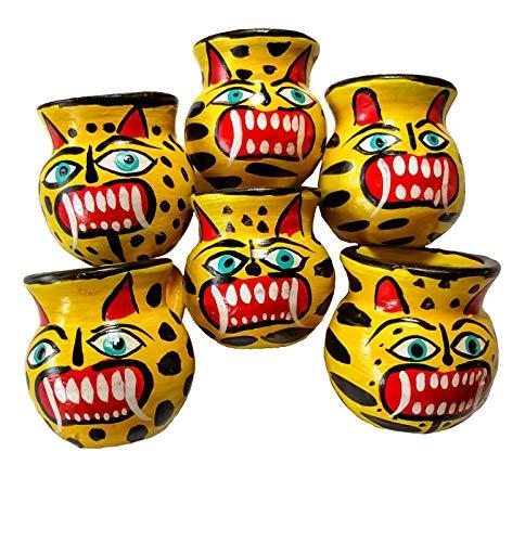 Jaguars Mexikanische Jarritos Set mit 6 handgefertigten traditionellen Tequila- und - Tequila Shot Kostüm