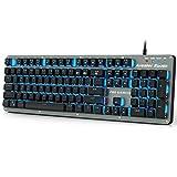 Arealer Roarer 104 Clavier Tout RGB Bleu Commutateurs Gaming Keyboard Macro Mécanique Anti-ghosting Pleine Programmable LED Rétroéclairage USB...