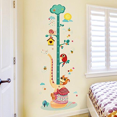 ALLDOLWEGE Cartoon elegante habitación niños dormitorio pared decorativos sticker vivero carteles de...
