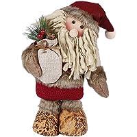 Muñecas de decoración de Navidad, MOONMINI decoración del hogar figuras juguetes de Navidad decoraciones Kit de vacaciones festiva regalo de pie juguete para el árbol de Navidad (Santa Claus)