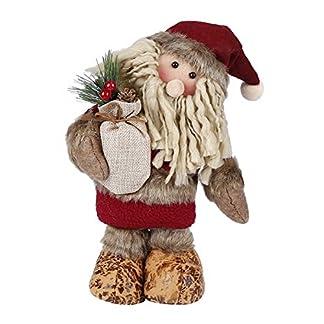 FindaGift Muñecas de decoración navideña, Papá Noel Figura Permanente Decoración de Navidad Ornamento Juguete Regalos Festivos